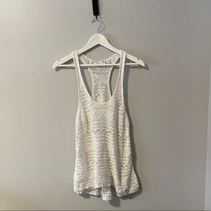 Gilly Hicks White Crochet Tank Top - Size Small